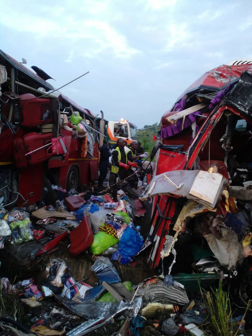 PHOTOS: 10 feared dead in gory accident on Accra-Kumasi highway