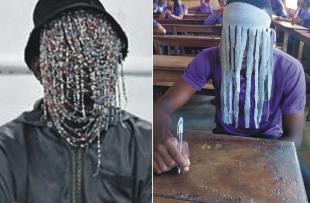 Photos: Nigerian student chased out of exams hall after he appeared in 'Anas' mask
