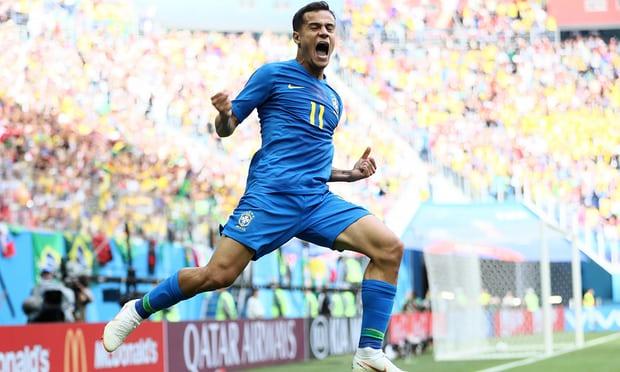 Brazil 2-0 Costa Rica - Coutinho and Neymar snatch late win to sink Costa Rica