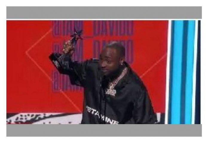 VIDEO: Davido makes Africa proud as first time winner on stage for 2018 BET Best International Act