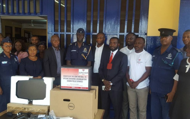Junction Mall donates computer to Kpeshie Divisional Police