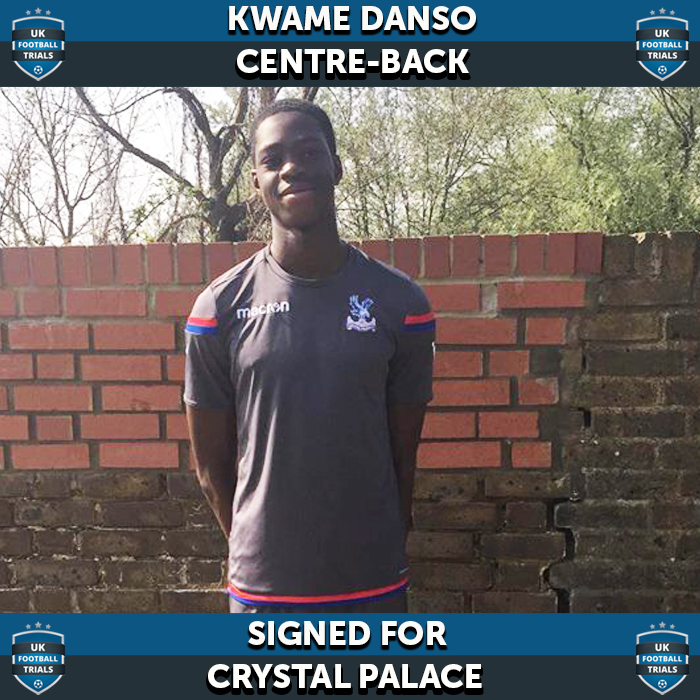 Ghanaian youngster Kwame Danso signs for Crystal Palace