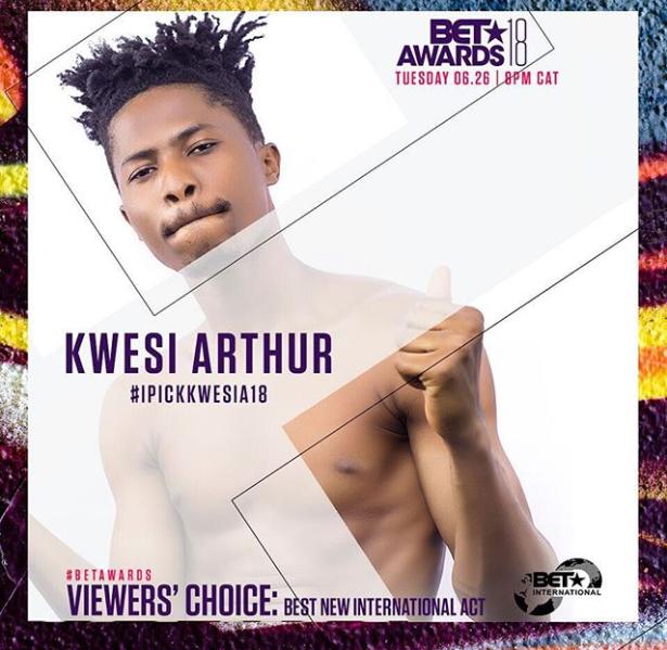 Kwesi Arthur opens up on his BET nomination