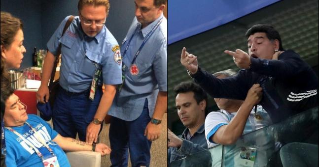 Diego Maradona clarifies what caused health scare in Argentina's dramatic win vs Nigeria