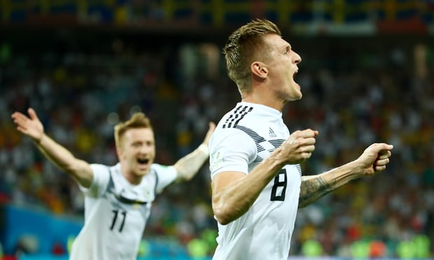 Germany 2-1 Sweden: Toni Kroos rescues World Cup holders with late win