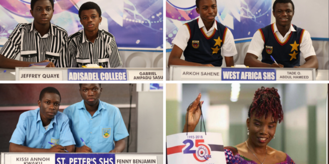 St. Peters SHS Wins NSMQ 2018 Quiz – Full Results In Each Round