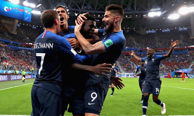 France 1-0 Belgium -Samuel Umtiti's header puts Les Blues in World Cup final with win over Red Devils