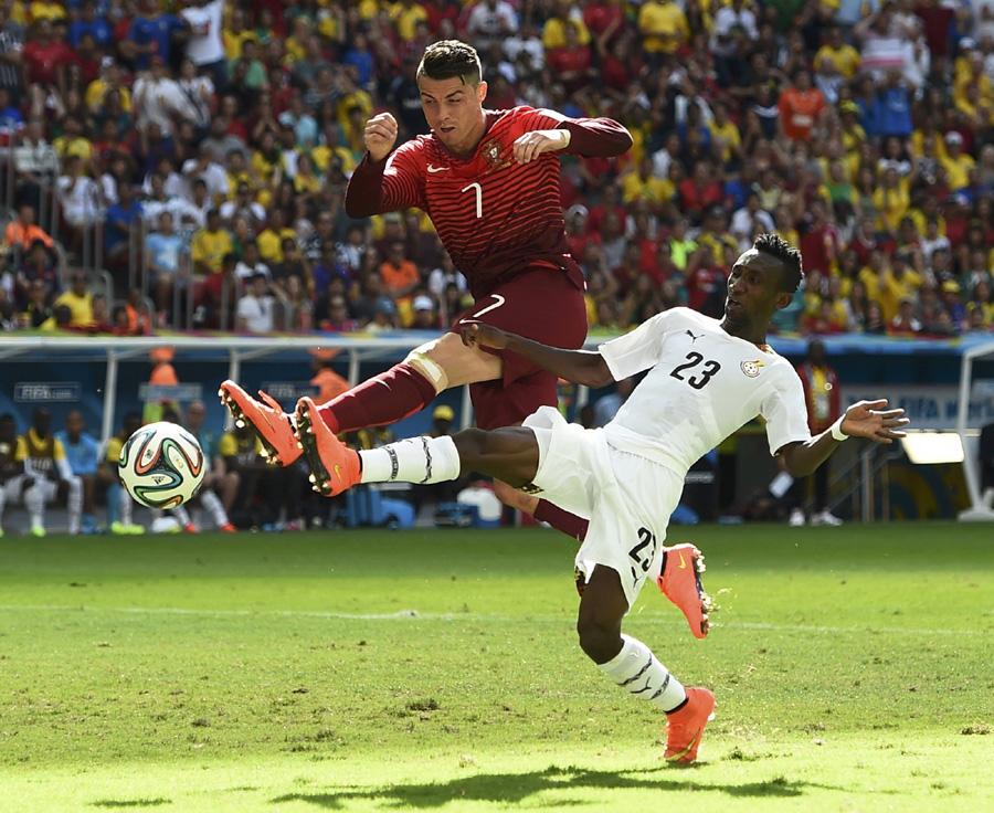 Harrison Afful recounts marking Cristiano Ronaldo in Brazil 2014 World Cup