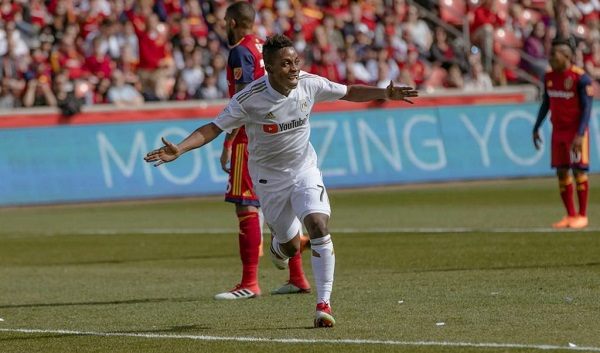 In-form Los Angeles forward Latif Blessing suffers injury blow