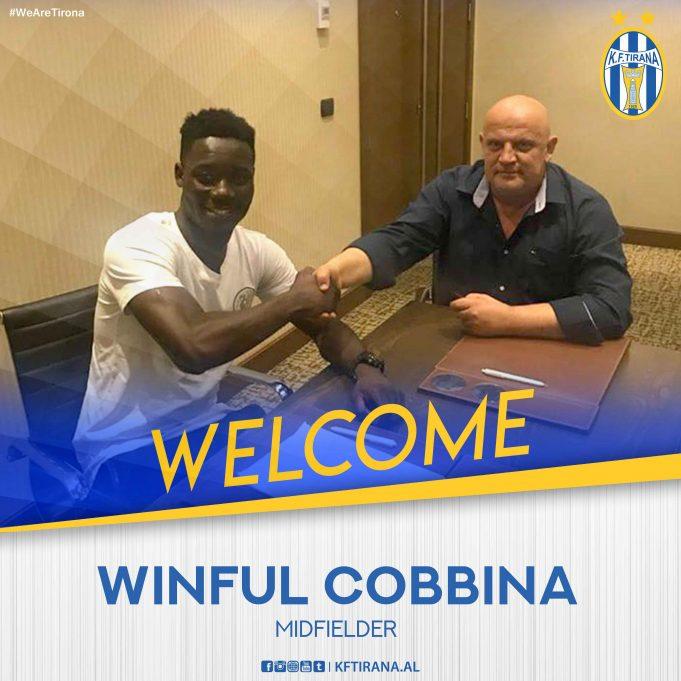 OFFICIAL: Winful Cobbina joins Albanian giants KF Tirana