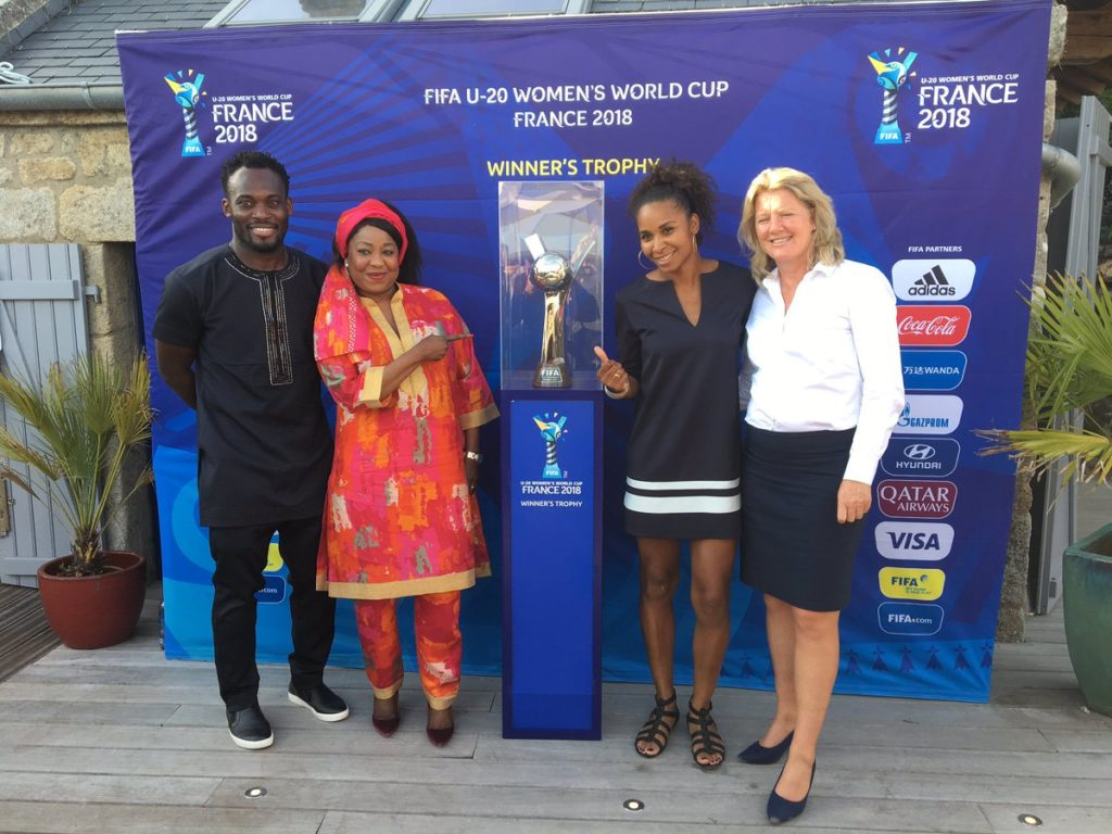 VIDEO: Ex-Black Stars ace Michael Essien surprises Black Princesses with a visit ahead of opener against France
