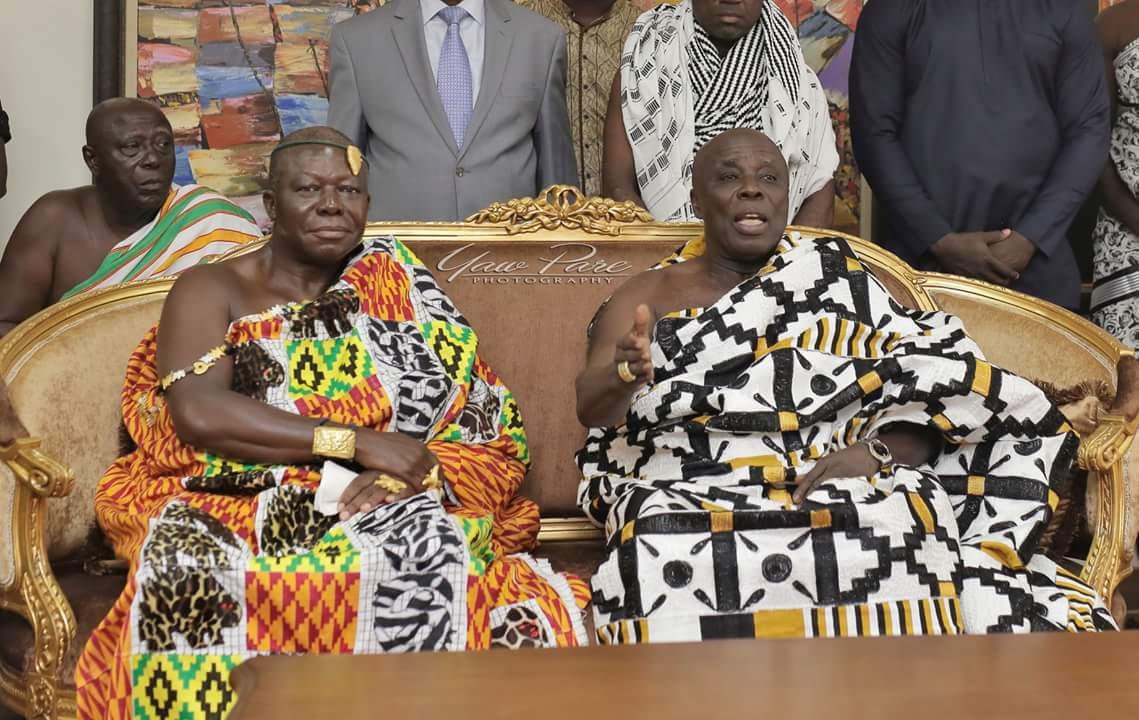 PHOTOS: Asantehene Otumfuo Osei Tutu visits Okyehene Amoatia Ofori Payin