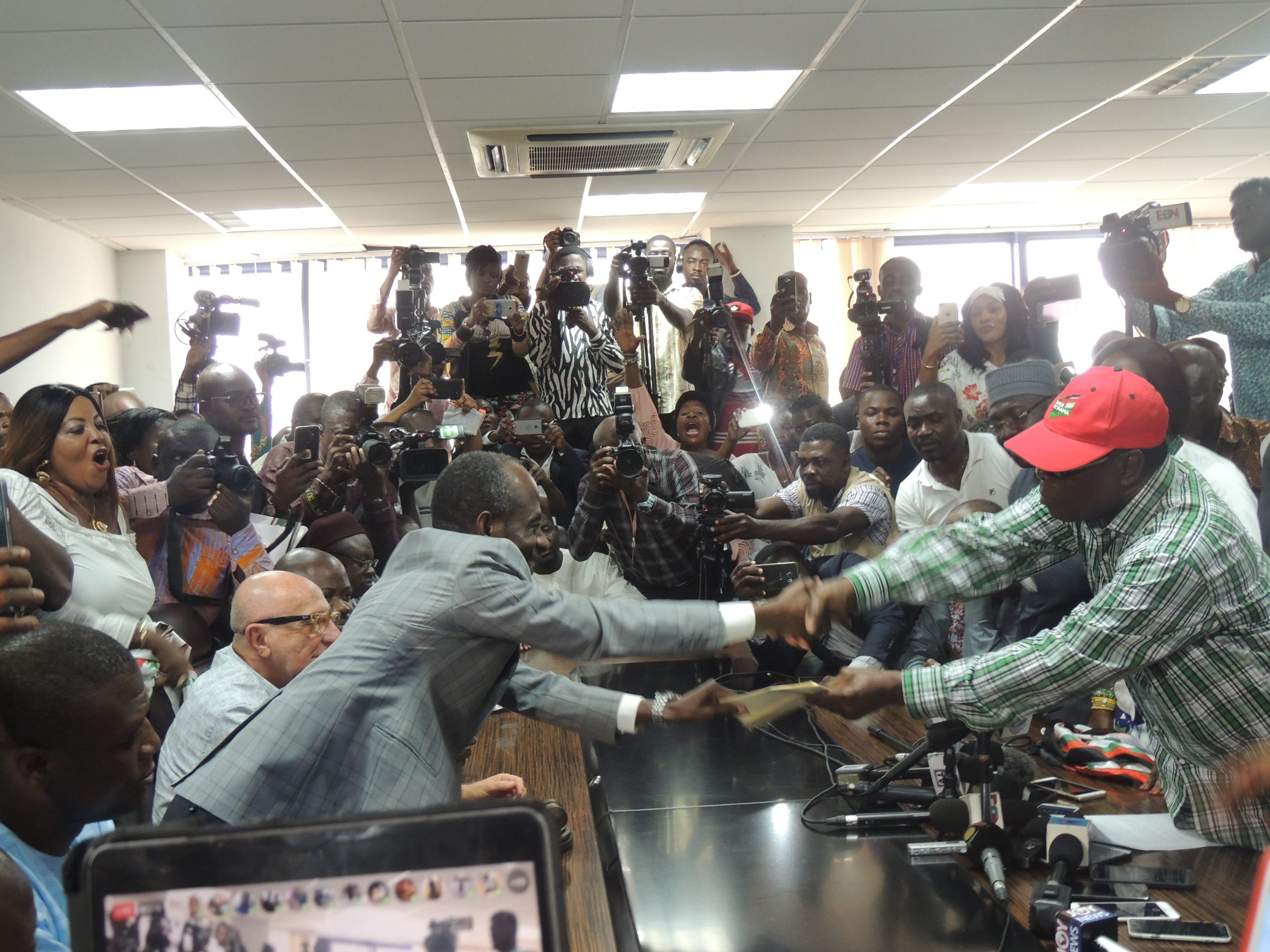 Mahama presents letter of intent to contest NDC flagbearer