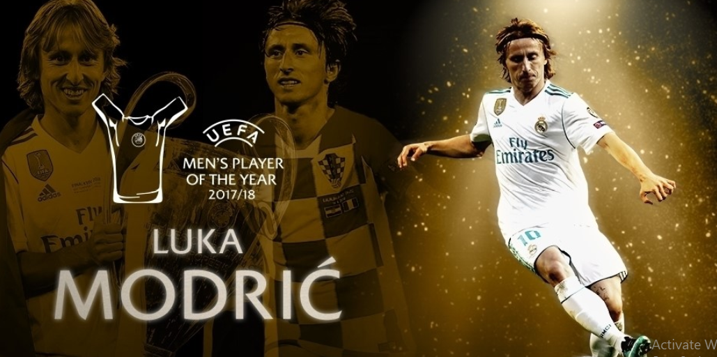Luka Modrić wins UEFA Men's Player of the Year award