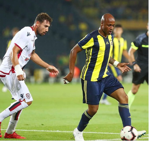 Andre Ayew delighted to play first game for Fenerbahçe