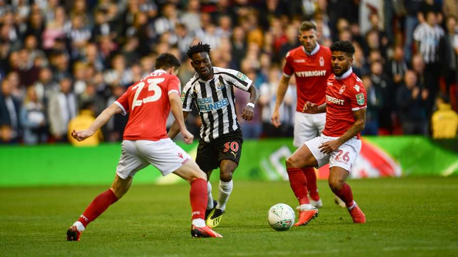Christian Atsu plays as Newcastle United suffer Carabao Cup elimination