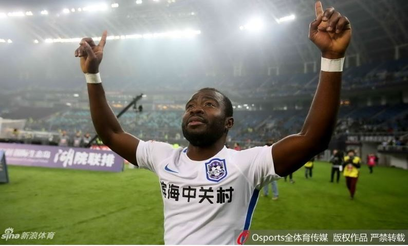Frank Acheampong recovers from penalty miss to score 11th league goal for Tianjin Teda