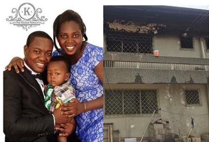 Pastor's wife and 3 children with mother in law killed by fire in Dansoman