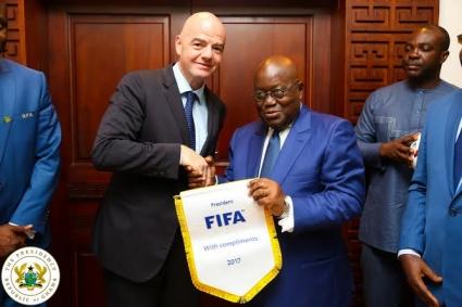 Ghana leader Akufo-Addo phones FIFA President Infantino over looming ban