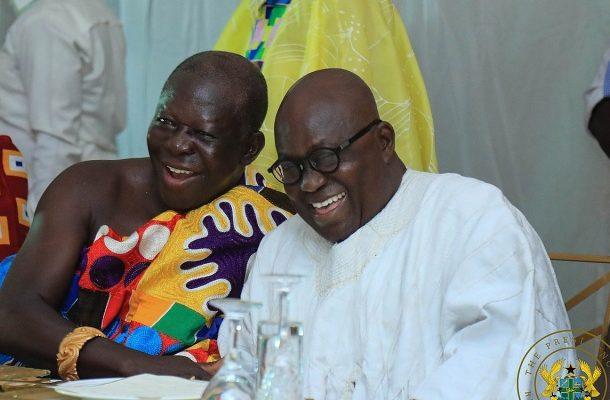 President Akufo-Addo hosts Otumfuo at Jubilee House