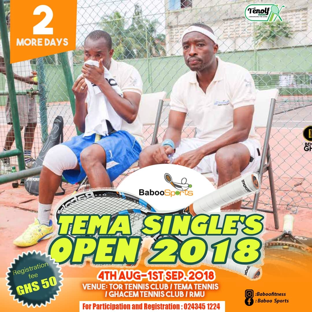 Tema Single's Open tournament kicks-starts on Saturday