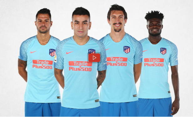 Thomas Partey joins Atletico Madrid teammates to unveil new away jersey [VIDEO]