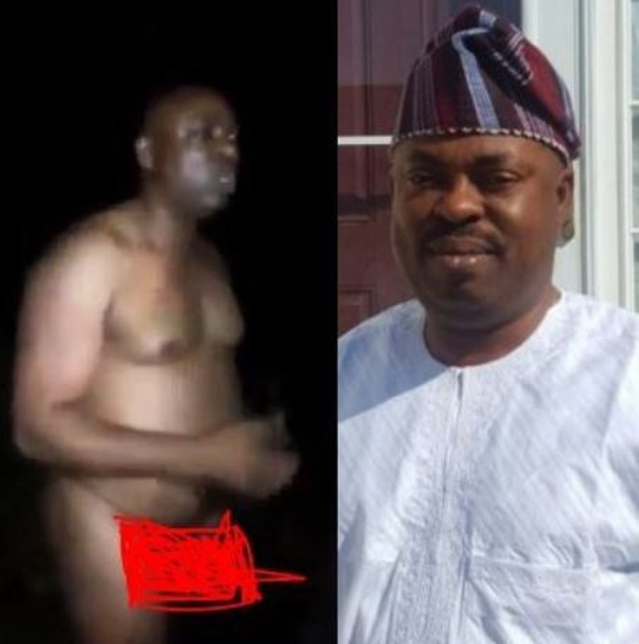 SHOCKING VIDEOS: Majority leader in parliament caught bathing in the market at night