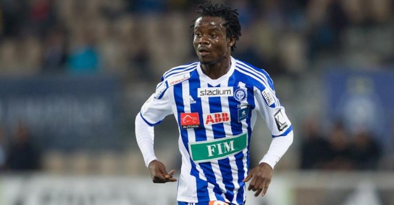 Ghana's Anthony Annan suffers injury blow in HJK Helsinki win over Mariehamn