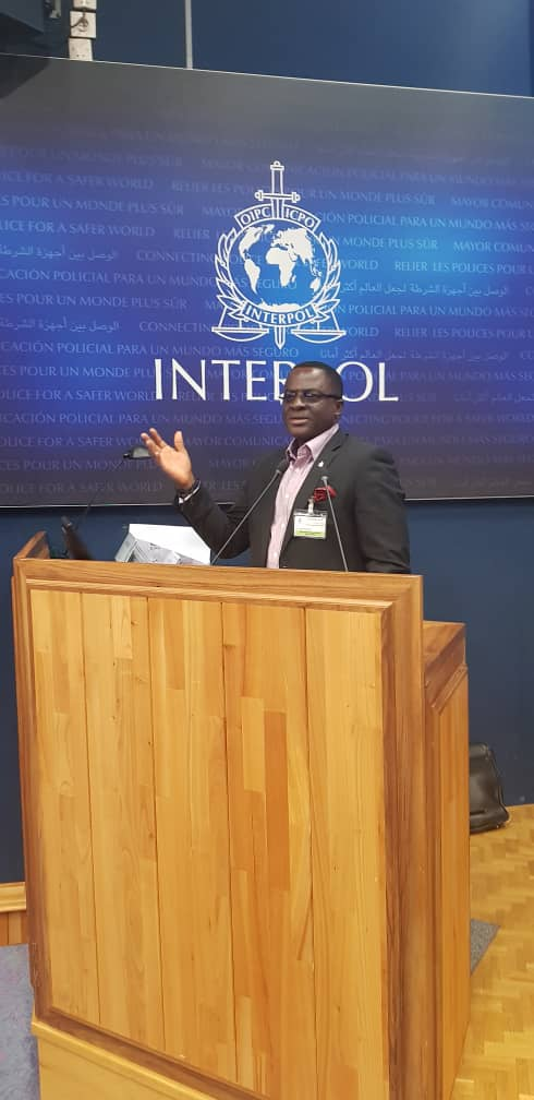 GOC President Ben Nunoo-Mensah delivers statement on Match-Fixing and Betting in Ghana and Africa at 10th Interpol meeting in France.