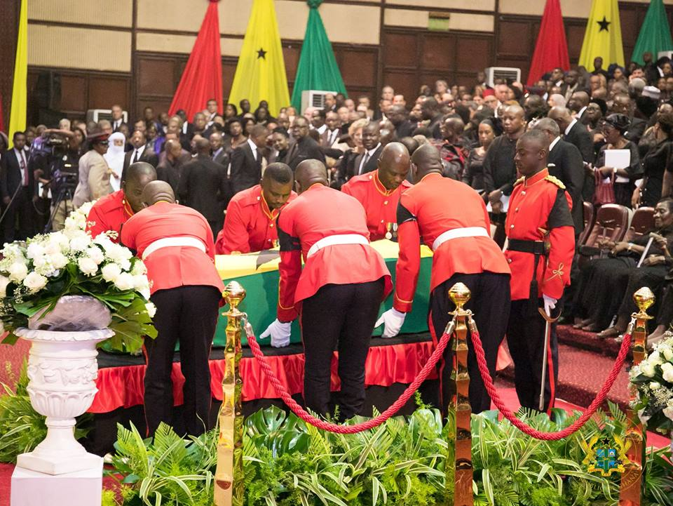 Pictures from Kofi Annan's funeral