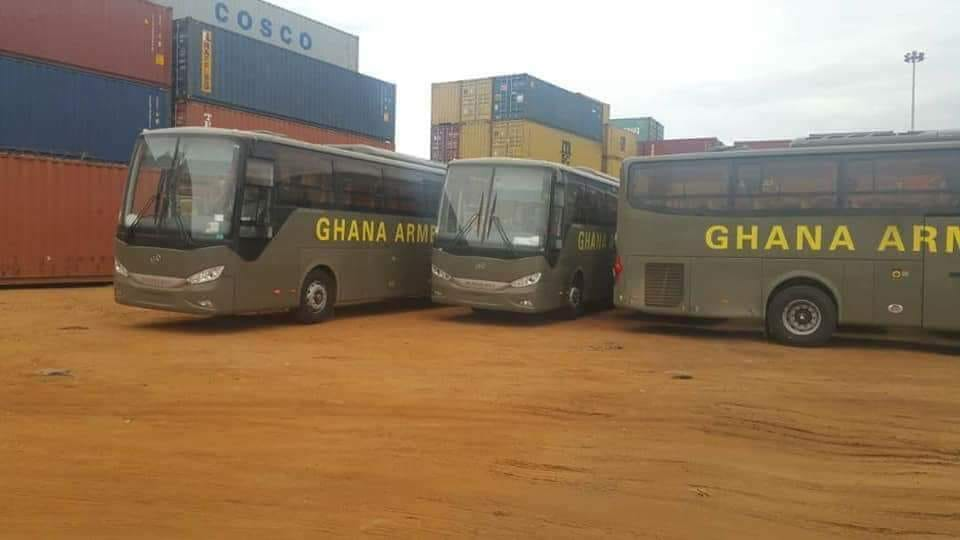 Ghana Armed Forces gets 50 Eicher Buses