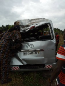 PHOTOS: NDC supporters involved in accident; one feared dead