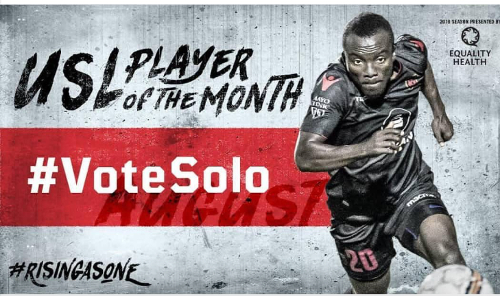In-form Solomon Asante shortlisted for USL Player of the Month for August