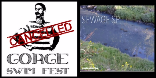 YUCK! Gorge Swim Fest cancelled due to sewage spill