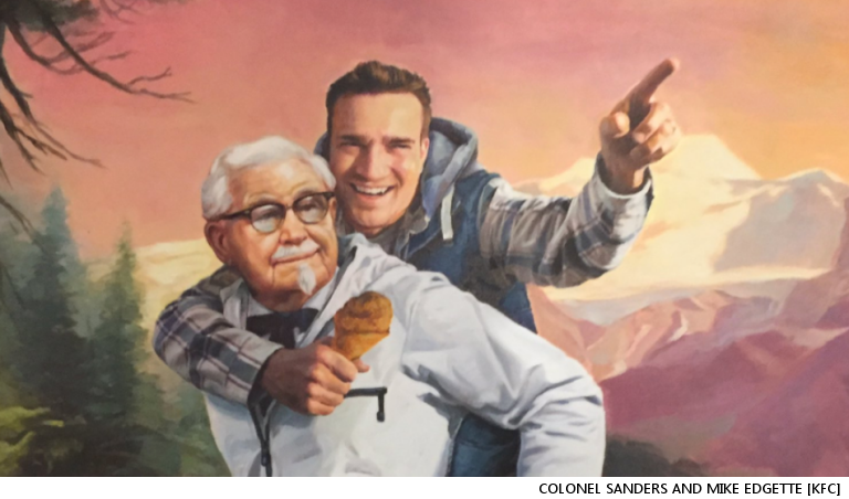 Guy Spots KFC's Brilliant Social Media Easter Egg, Tweets About It, Goes Viral, Receives Custom Painting From KFC In Return