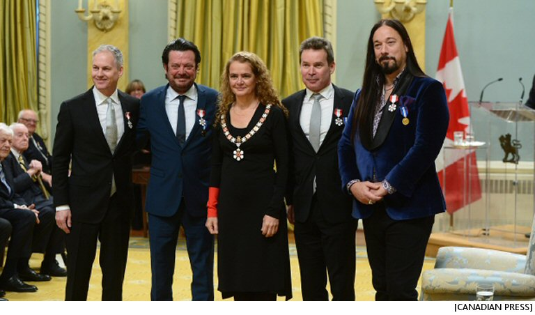 What Do Tragically Hip Bandmates And Alex Trebek Have In Common? They're Now Members Of The Order Of Canada