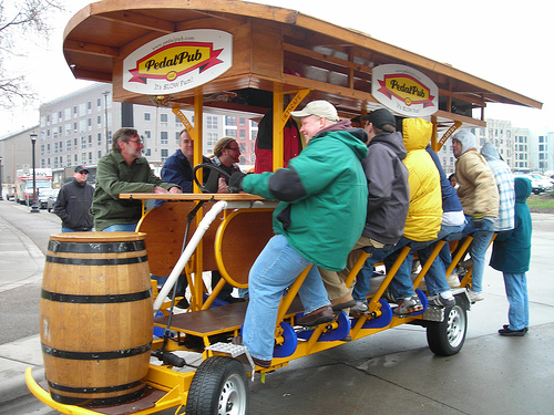 They've got it all in Minnesota for Superbowl. Meet 'The PedalPub'