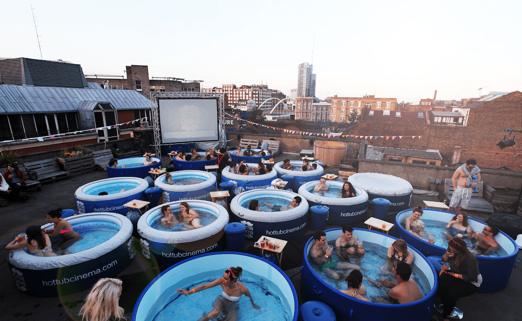 hot tub movie nights are coming to Vancouver. Would this fly in Victoria?
