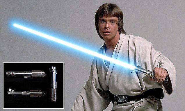 Luke Skywalker's original Lightsaber on display at Science World, Vancouver