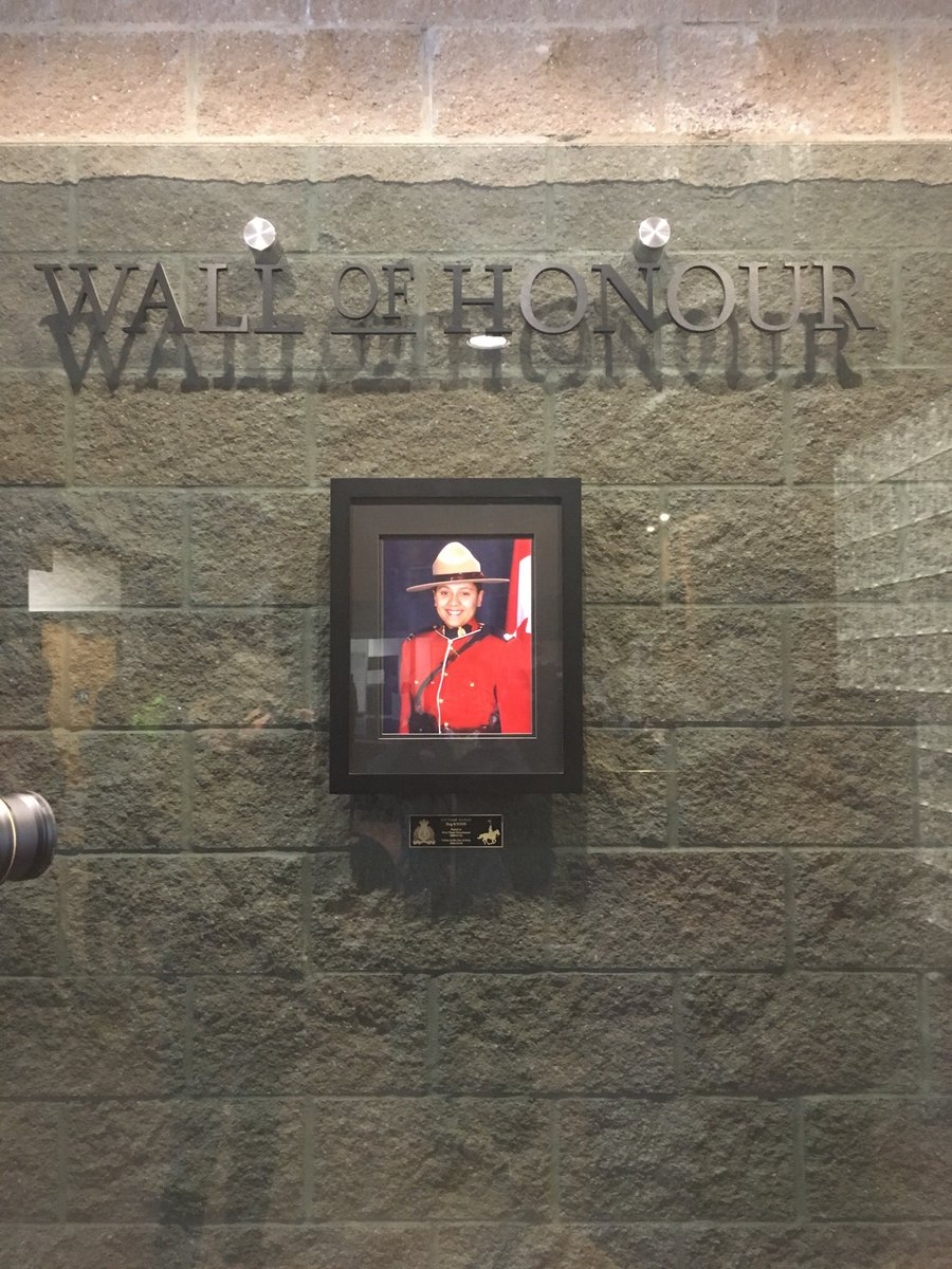 "Mounties unveil ""Wall of Honour"" for Sarah Beckett"