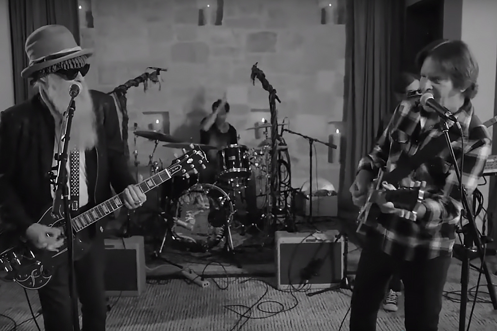Billy Gibbons And John Fogerty Brewing Up A New Tune.