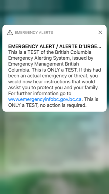 Glitches in B.C. wireless emergency alert test