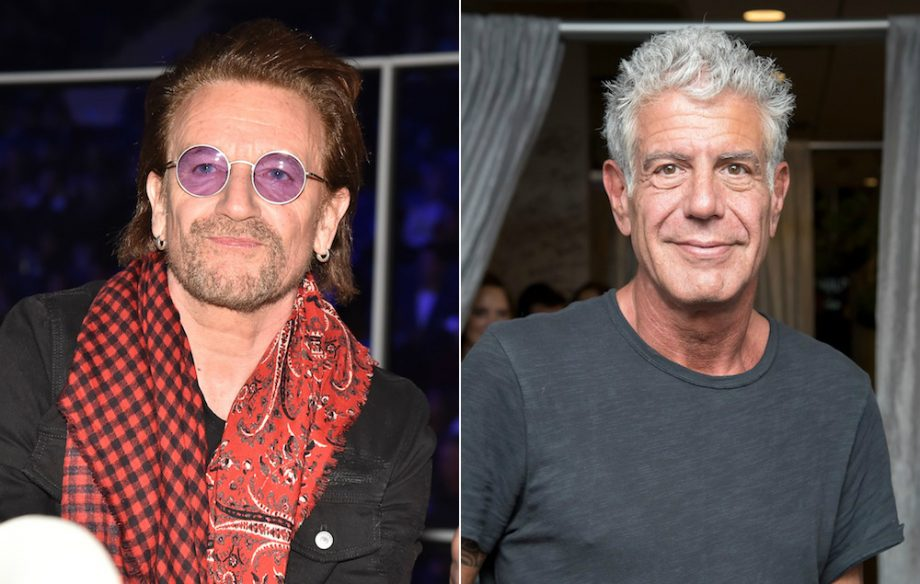Bono and U2 pay tribute to Anthony Bourdain at NY concert