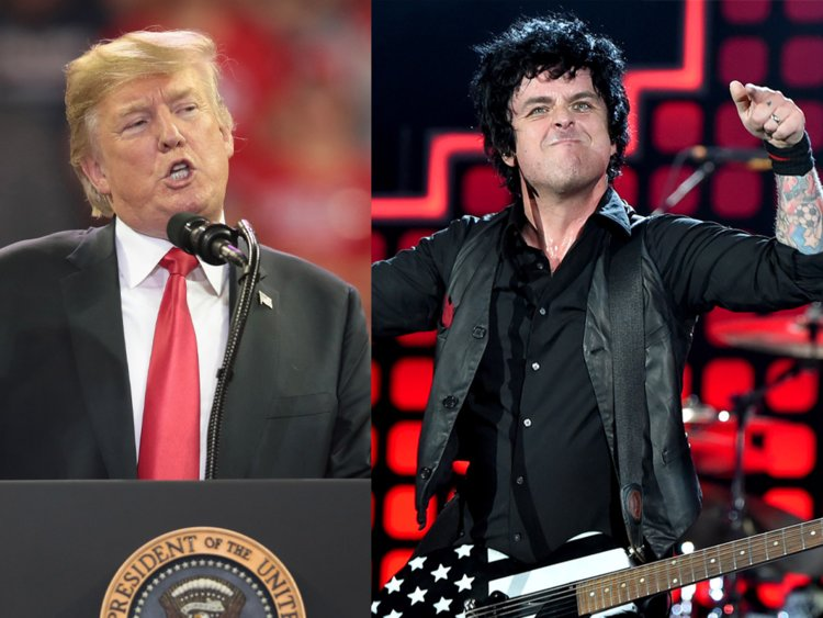 """British Protesters Want Green Day's """"American Idiot"""" To Top The Charts For Trump's Visit."""