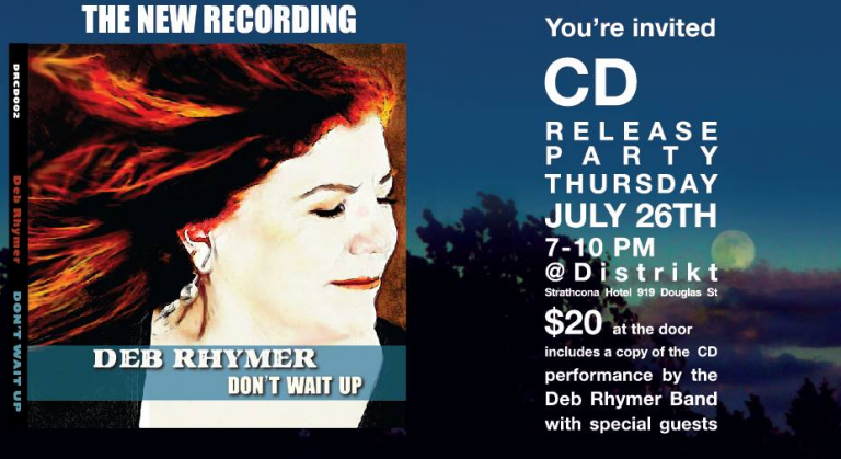 Deb Rhymer's Doing A CD Release Party Tomorrow Night