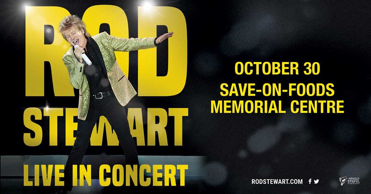 Just announced: ROD STEWART - TUESDAY, OCTOBER 30, 2018th.