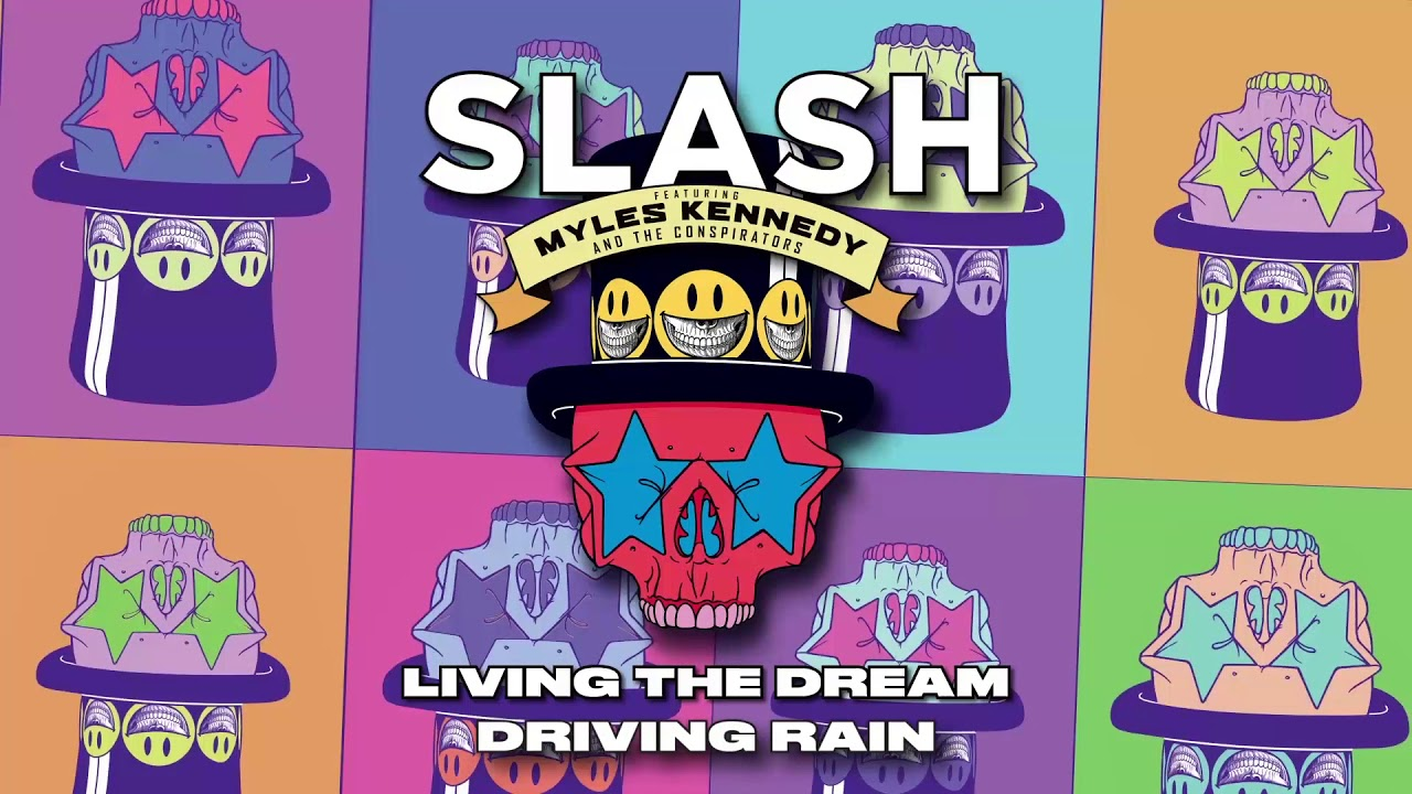 "New Song From Slash Featuring Myles Kennedy & the Conspirators - ""Driving Rain""."