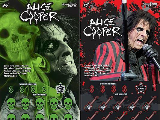 Arizona State Lottery Launching Lotto Ticket Featuring Alice Cooper.