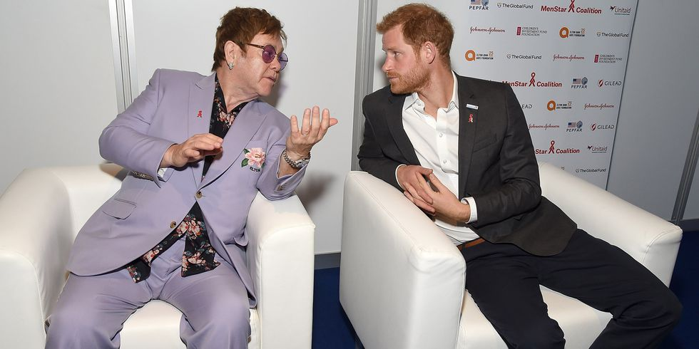 Prince Harry And Elton John Launch AIDS Initiative.