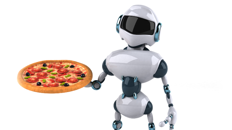 Pizza delivery robots.